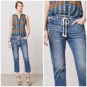 Anthropologie Holding Horses Drawstring Jeans